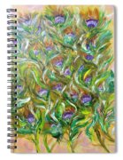 Feather Luster Spiral Notebook
