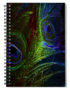 Feathers Of Hope. Blue Touch Spiral Notebook