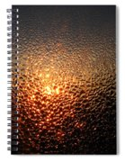 February Morning Dew Drops Spiral Notebook