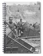 Federal Siege Guns Yorktown Virginia During The American Civil War Spiral Notebook