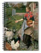 Feeding The Chickens Spiral Notebook