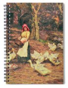 Feeding The Ducks Spiral Notebook