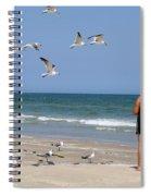Feeding The Sea Gulls Spiral Notebook