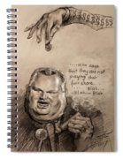 Feeding The Talking Heads Like Rush Limbaugh And Co Spiral Notebook