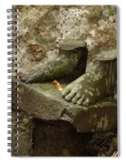 Cambodia Carved Feet Spiral Notebook