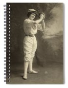 Female Baseball Player Spiral Notebook