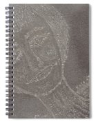 Female  Face  On  Steel  Two Spiral Notebook