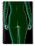 Female, Full Posterior View Spiral Notebook