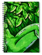 Female On A Mardi Gras Float Painted Spiral Notebook