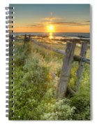 Fence Along The Shore Spiral Notebook