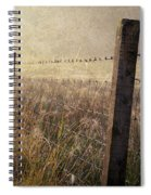 Fence And Field. Trossachs National Park. Scotland Spiral Notebook