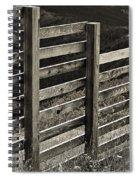 Fence Close Up Spiral Notebook