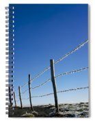 Fence Covered In Hoarfrost In Winter Spiral Notebook