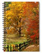 Fence In Autumn Spiral Notebook