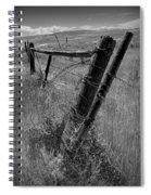 Fence Posts And Barbed Wire At The Edge Of A Field In Montana Spiral Notebook