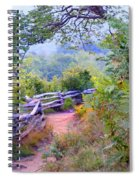Fence To The Blueberries Filtered Spiral Notebook