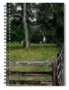 Fenced In Field Spiral Notebook