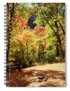 Fenced Path Through Autumn Forest - Blacksmith Fork Canyon - Utah Spiral Notebook