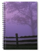 Fenceline Silhouette With Tree Spiral Notebook
