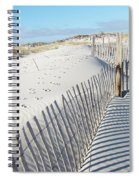 Fences Shadows And Sand Dunes Spiral Notebook