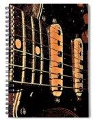 Fender In Brown Spiral Notebook
