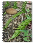 Fern Frond And Mushroom 5 Spiral Notebook