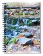 Fern Spring In Autumn Spiral Notebook