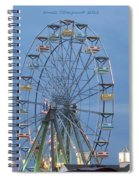 Ferris Wheel At Virginia Beach Spiral Notebook