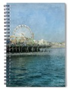 Ferris Wheel On The Santa Monica Pier Spiral Notebook