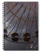 Ferris Wheel Reflection Spiral Notebook