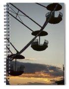 Ferris Wheel Silhouette Spiral Notebook