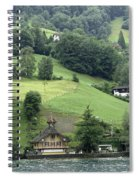 Few Houses On The Slope Of Mountain Next To Lake Lucerne Spiral Notebook