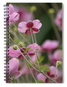 Field Of Japanese Anemones Spiral Notebook