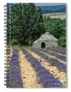 Field Of Lavender. Sault Spiral Notebook
