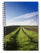 Field Path In Limagne. Auvergne. France. Europe Spiral Notebook