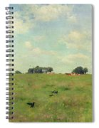 Field With Trees And Sky Spiral Notebook