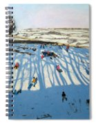 Fields Of Shadows Spiral Notebook