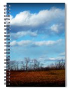 Fields Of Yellow Spiral Notebook