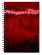 Fiery Forest  Spiral Notebook