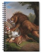 Fight Of A Lion With A Tige Spiral Notebook