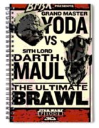 Fight Poster Spiral Notebook