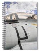 Fighter Jet Cockpit Spiral Notebook