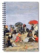 Figures On A Beach Spiral Notebook