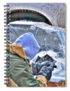Fine Tuning Buffalo At Winter Fest Spiral Notebook