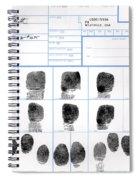 Fingerprint Identification Application Spiral Notebook