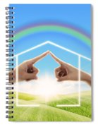 Fingers Touching Together Spiral Notebook