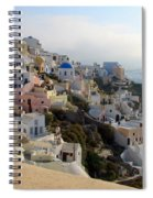 Fira In Santorini Spiral Notebook