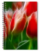 Fire And Ice Fractal Panel 1 Spiral Notebook
