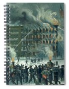Fire In The New York World Building Spiral Notebook