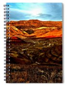 Fire In The Painted Hills Spiral Notebook